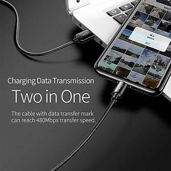 Wiwu YZ102 Lightning Micro+Type-C 3in1 Usb Þarj ve Data Kablosu Siyah