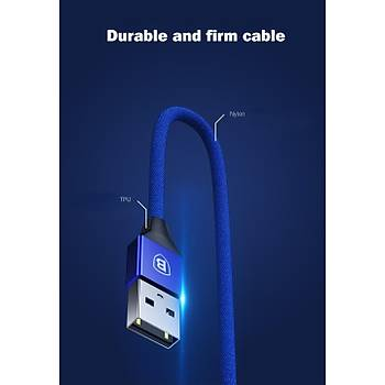 Baseus Yiven Cable For Type-C 3A 1.2M Mavi
