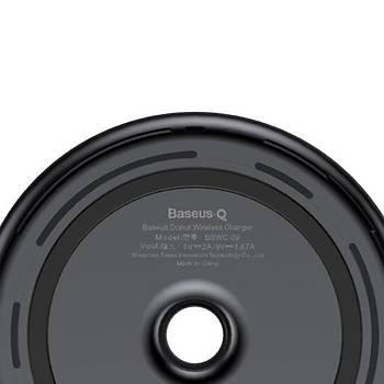Baseus Donut Qi Serisi Wireless Kablosuz Hýzlý Þarj Cihazý Siyah