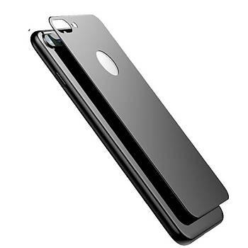 Lito 3D Full Cover iPhone 8 Cam Ekran Koruyucu Arka / Siyah