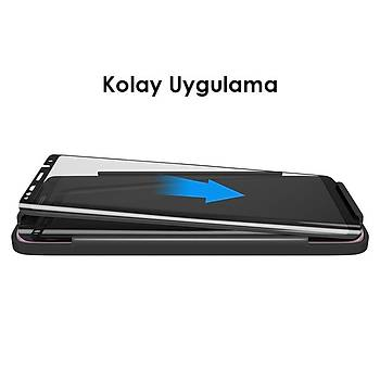 AntDesign 5D Tüm Yüzey Galaxy Note 8 Cam Ekran Koruyucu Siyah