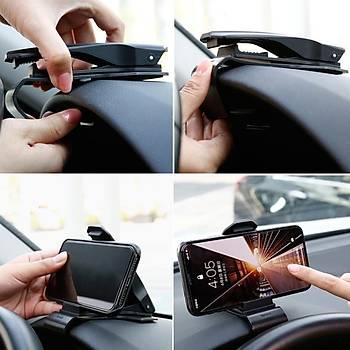 Baseus Mouth Gösterge Üstü Araç Telefonu Tutucu Siyah