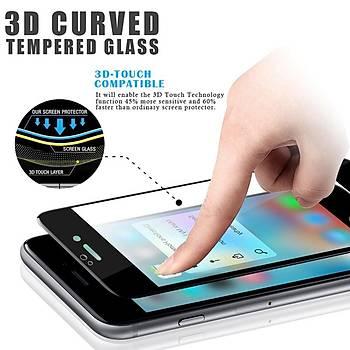 Lito 3D Full Cover iPhone 7 / 8 Cam Ekran Koruyucu Ön / Beyaz