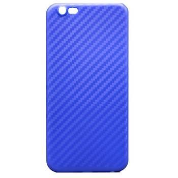 AntDesign iPhone 7 / iPhone 8 Karbon Desen Ultra Ýnce Kýlýf Mavi