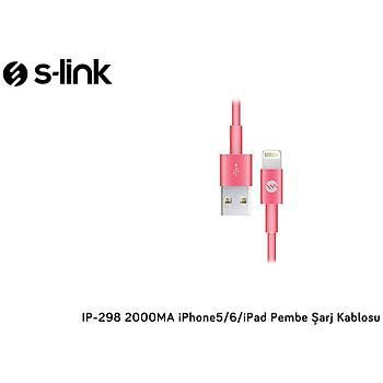 S-Lýnk 2A Iphone Lightning Usb Data Þaj Kablosu Pembe