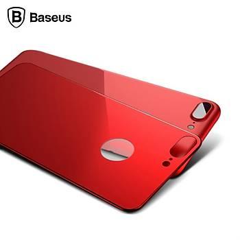 Baseus Silk Screen Back iPhone 7 / 8 3D 0.3mm Arka Koruyucu Cam
