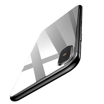 Baseus Back iPhone X/XS 5.8 3D 0.3mm Arka Koruyucu Cam