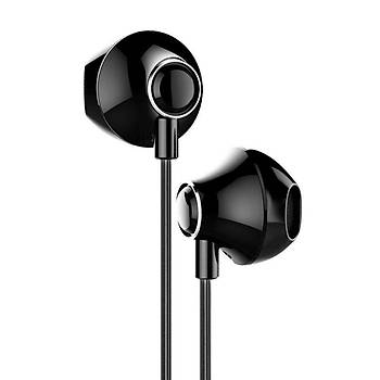 Baseus Encok H06 3.5mm Kulakiçi Mikrofonlu Kablolu Kulaklýk Siyah