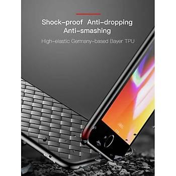 Baseus BV Weaving Serisi iPhone 7 / 8 Hasýr Desenli Kýlýf Mavi