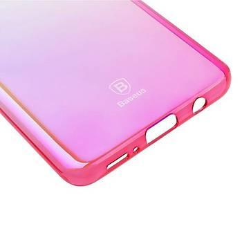 Baseus Glaze Galaxy S9 Plus Ultra Slim Transparan Kýlýf Pembe