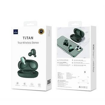 Wiwu Airbuds Titan HÝ-FÝ Superior Bluetooth Kulaklýk Yeþil