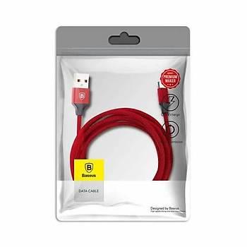 Baseus USB Þarj Veri Kablosu Baseus Yiven Cable For Type-C 3A 1.2M Kýrmýzý