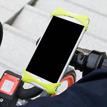 Baseus Miracle Bisklet Ve Motosiklet Telefon Tutucu Turuncu