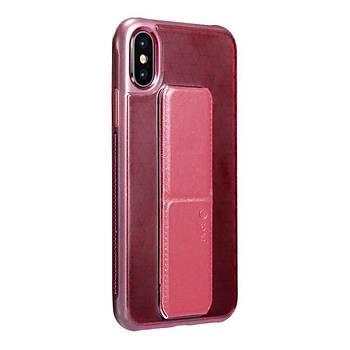 Roar Apple iPhone XS Max 6.5 Aura Standlý Þeffaf Silikon Kýlýf Red