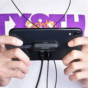 Wiwu Lightning Mobil Game Ses ve Þarj Dönüþtürücü Adaptör Gri