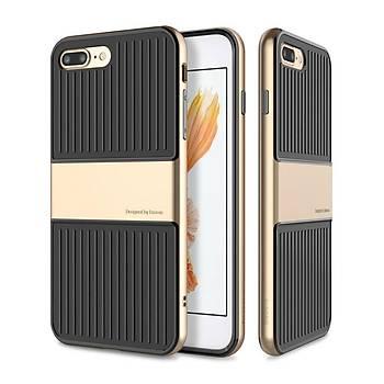 Baseus Travel iPhone 7 Plus/8 Plus Çift Katmanlý Kýlýf Gold