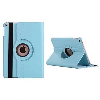Zore iPad 10.2 Dönebilen Deri Standlý Kýlýf Mavi