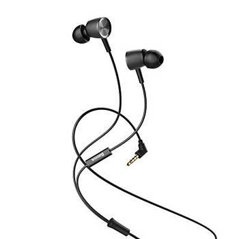 Baseus Encok Wire H07 3.5mm Kulakiçi Mikrofonlu Kulaklýk Siyah
