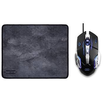 Hiper Raum X7 Programlanabilir 3200Dpý Gaming Mouse ve Mouse Pad Set