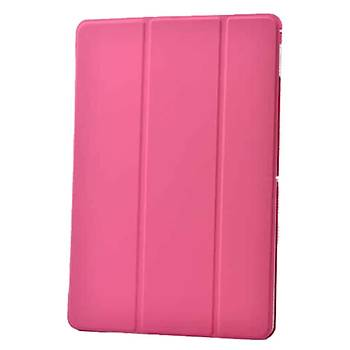 AntDesign Apple iPad Air 2 Smart Cover Standlý Kýlýf Koyu Pembe