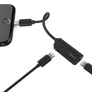 Baseus L37 Serisi 3in1 iPhone Lightning Þarj Ve Ses Kablosu Siyah