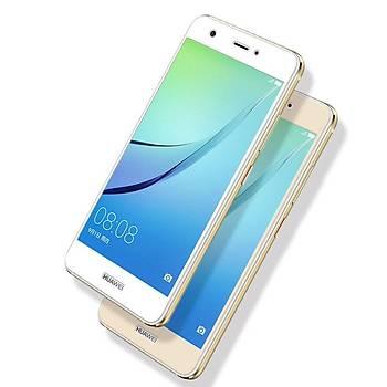 Lito 3D Full Cover Tam Kaplayan Huawei P9 Cam Ön / Gold