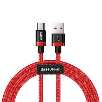 Baseus Purple Gold Red Huawei Hýzlý Þarj Kablosu USB ve Type-C 1 Metre Kýrmýzý