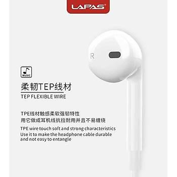 Lapas I6S 3.5mm Stereo Kulaklýk Kablolu