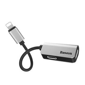 Baseus L37 Serisi 3in1 iPhone Lightning Þarj Ve Ses Kablosu Gümüþ