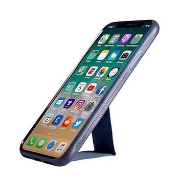 Roar Apple iPhone XS Max 6.5 Aura Standlý Þeffaf Silikon Kýlýf Blue