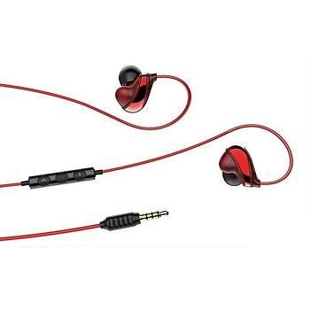 Baseus Encok Wire H05 3.5mm Kulakiçi Mikrofonlu Kulaklýk Kýrmýzý