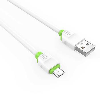Zore LS32 Micro Usb Þarj ve Data Kablosu 1Metre 2.4 A Beyaz