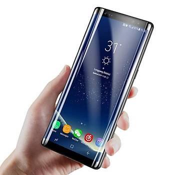Baseus Galaxy Note 8 0,3mm 3D Kavisli Cam Ekran Koruyucu Siyah
