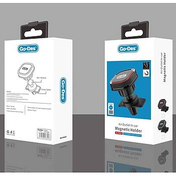 Go Des GD-HD667 Magnetic Araç Tutucu Siyah-Kýrmýzý