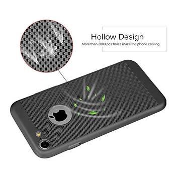AntDesign iPhone 7 / iPhone 8 Cooling Hole File Kýlýf Siyah
