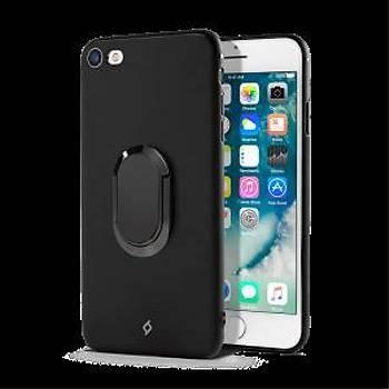 TTEC AirFlex Pro Yüzüklü Koruma Kýlýfý iPhone 7-8 Plus Siyah