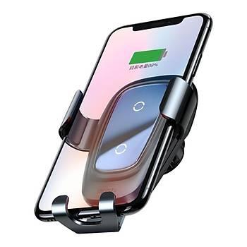 Baseus Wireless Araç Þarjý ve Tutucu Siyah