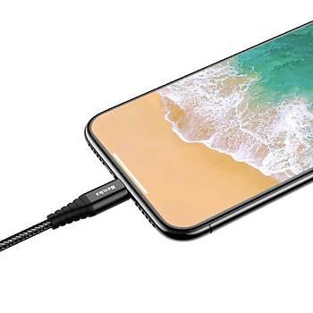 Benks M09 MFI Lisanslý Apple Ýphone Þarj ve Data Kablosu 1.20M 2.4A. Black