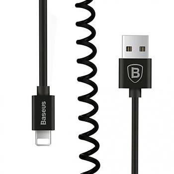 Baseus Elastic iPhone Lightning 1,6M Spiral Data Þarj Kablosu