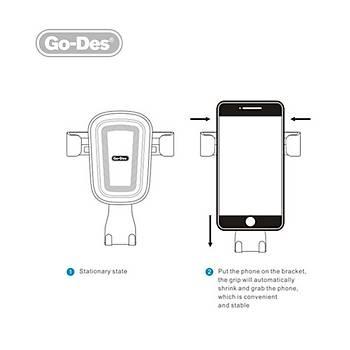 Go Des GD-HD629 Araç Ýçi Telefon Tutucu Siyah