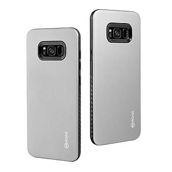 Roar Galaxy S8 Kýlýýf Rico Hybrid Case Grey