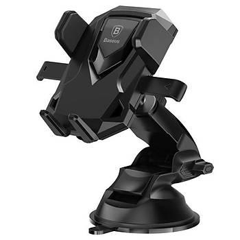 Baseus Robot Car Araç içi Vakumlu Telefon Tablet Tutucu Siyah