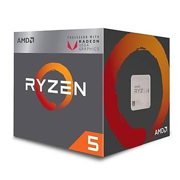 Amd Ryzen 5 2400G Soket Am4 3.6Ghz 6Mb 65W 4 Çekirdek Vega 11 Gpu Ýþlemci