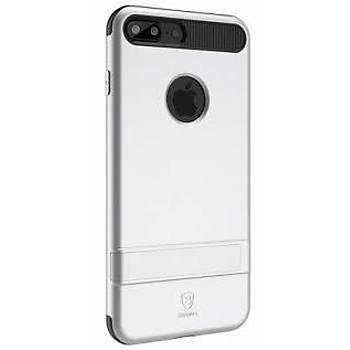 Baseus iBracket Serisi iPhone 7 Plus Gizli Standlý Kýlýf Gümüþ