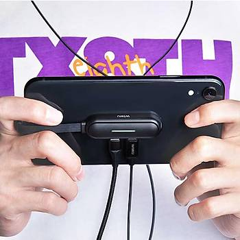 Wiwu Lightning Mobil Game Ses ve Þarj Dönüþtürücü Adaptör Siyah