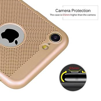 AntDesign iPhone 7 / iPhone 8 Cooling Hole File Kýlýf Altýn