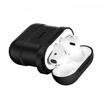 Baseus Apple Airpods Kýlýf ve Kulaklýk Askýsý Siyah