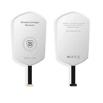 Baseus Micro Usb Wireless Þarj Adaptörü Beyaz