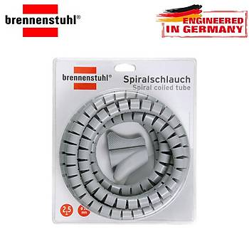 Brennenstuhl Spiral Sargýlý Kablo Borusu L = 2,5M Gri
