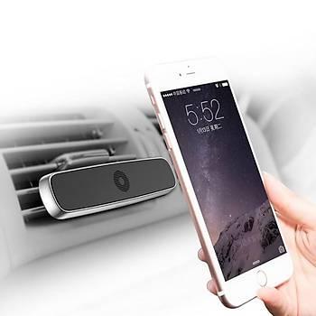 Baseus Double Clip Serisi Araç Ýçi Telefon Tutucu Gümüþ